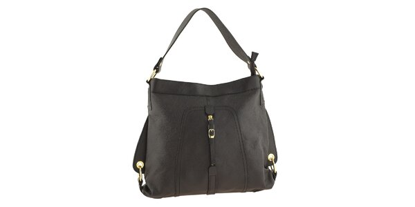 Dámska tmavá kožená kabelka Tina Panicucci