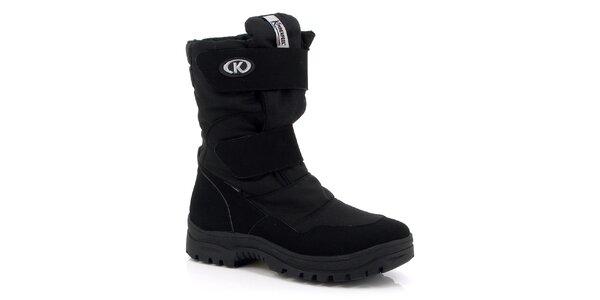 Pánske čierne vysoké topánky Kimberfeel