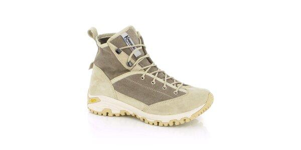 Dámske béžové trekingové topánky Kimberfeel