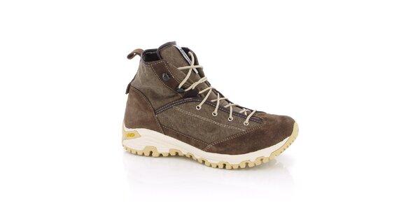 Dámske hnedé trekingové topánky Kimberfeel