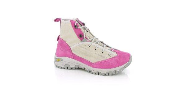 Dámske ružové trekingové topánky Kimberfeel