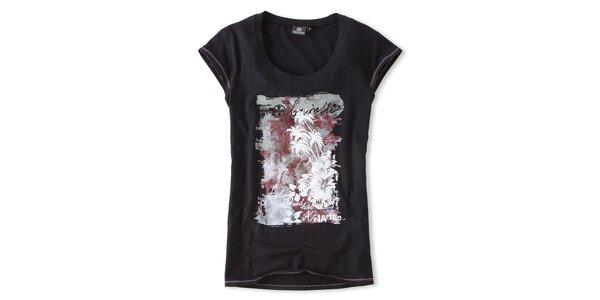 Dámske čierne tričko s potlačou Brunotti