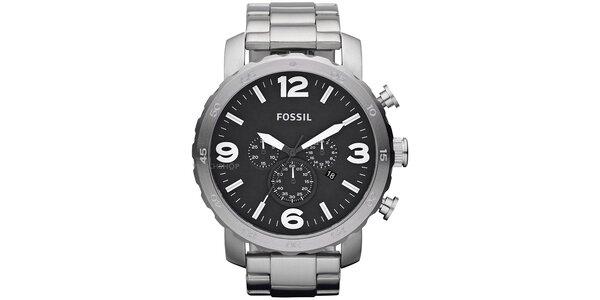 Pánske masívne hodinky z nerezovej ocele Fossil