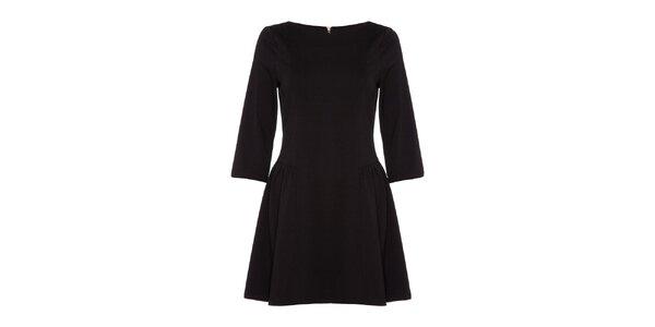 Dámske čierne šaty s dlhými rukávmi Yumi
