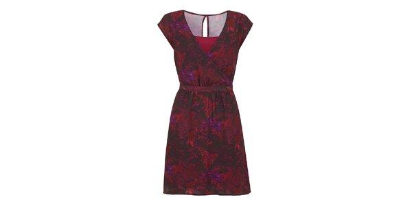 Dámske malinové vzorované šaty Yumi