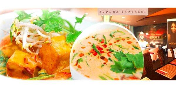 Thajské menu pre dvoch v Buddha Brothers
