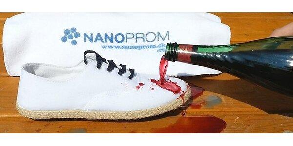 Nano impregnácia textilu a obuvi kvality Plus+ NanoProm