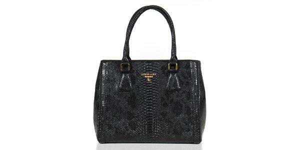 Dámska čierna kabelka so šupinkami Giorgio di Mare
