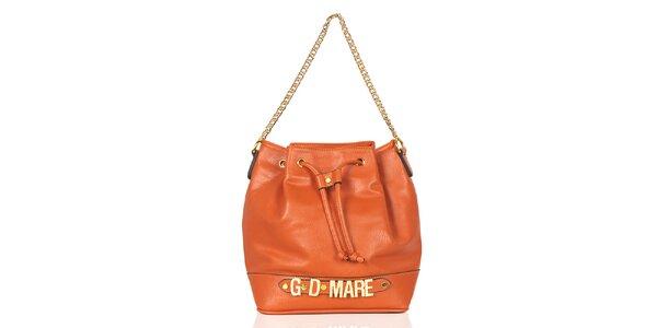 Dámska oranžová kabelka/batôžtek Giorgio