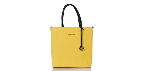 Dámska žltá kabelka s vnútornou taštičkou Giorgio di Mare