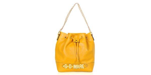 Dámska žltá kabelka/batôžtek Giorgio