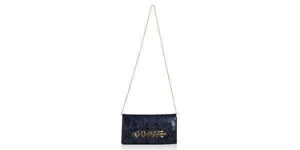 Dámska tmavomodrá hadia listová kabelka Giorgio di Mare