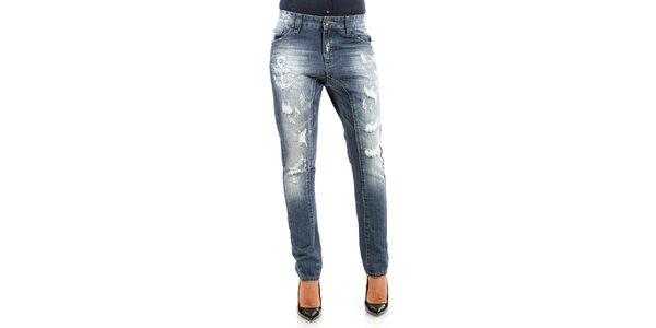 Dámske džínsy s potrhaným efektom Isabel Queen