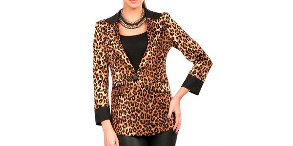 Dámske leopardie dlhšie sako Isabel Queen