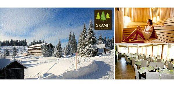 Oddych vo Veľkej Fatre v horskom Hoteli Granit**