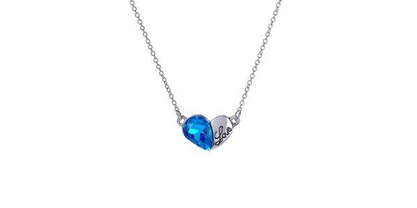 Dámsky náhrdelník s modrým kryštálikom Victoria de Bastilla