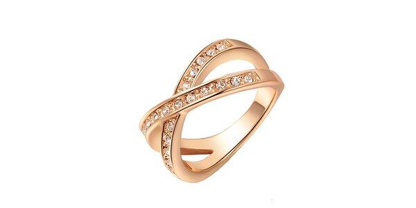 Dámsky pozlátený prsteň s kryštálikmi Victoria de Bastilla