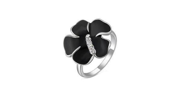Dámsky prsteň s čiernou kvetinou Victoria de Bastilla