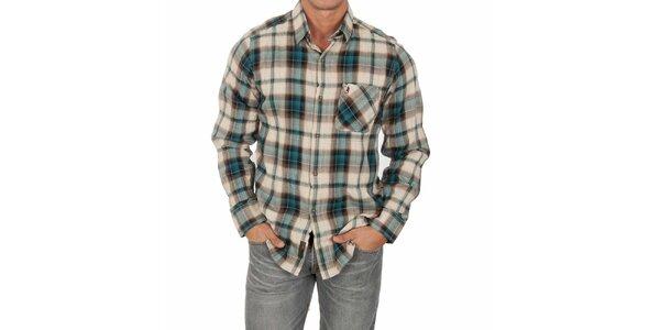 Pánska vzorovaná košeľa s dlhým rukávom Marlboro Classics