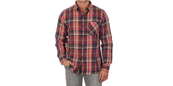 Pánska červená košeľa s dlhým rukávom Marlboro