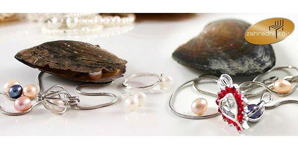 Strieborný šperk s pravou perlou prianí