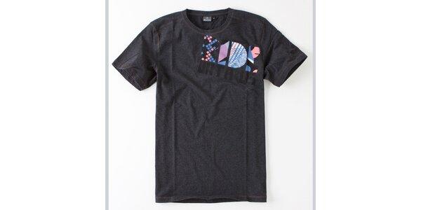Pánske tmavo šedé tričko Brunotti s potlačou