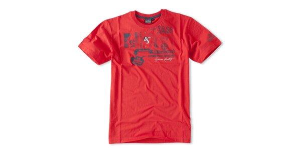 Pánske červené tričko Brunotti s potlačou
