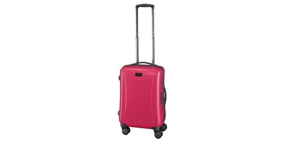 Ružový príručný kufor na koliečkach Esprit