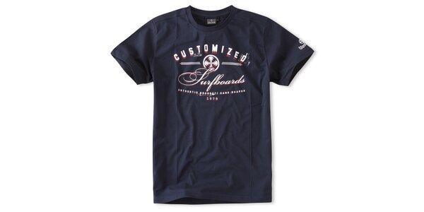 Pánske temne modré tričko Brunotti s potlačou