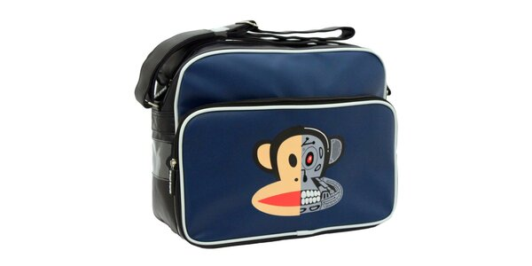 Modro-čierna taška s bielymi prvkami Paul Frank