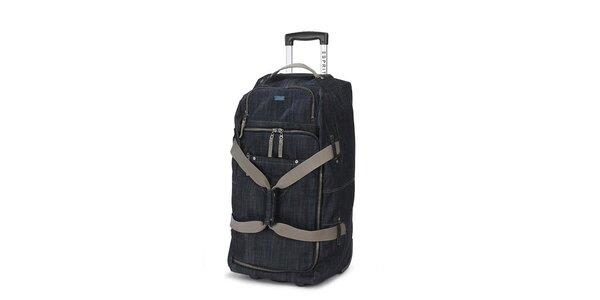 Džínsová cestovná taška na koliečkach Esprit