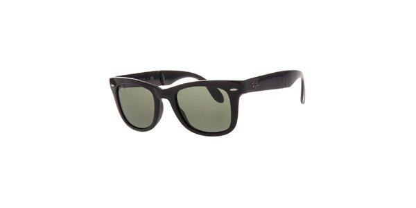 Čierne slnečné okuliare so skladacími obrubami Ray-Ban