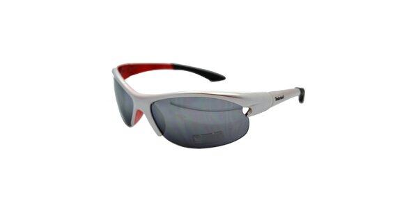 Strieborno-červené športové slnečné okuliare Timberland