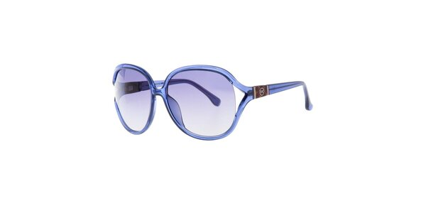 Modré oválne slnečné okuliare Michael Kors