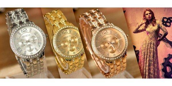 Elegantné Geneva hodinky Swarovski elements