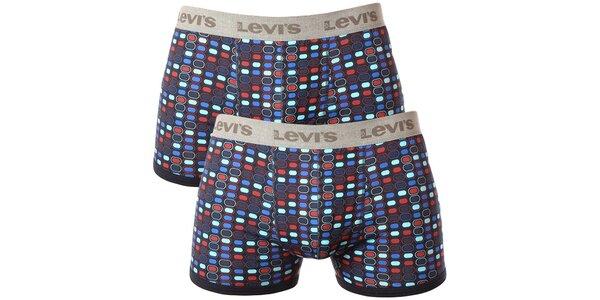Set 2 pánskych farebných boxeriek Levi's