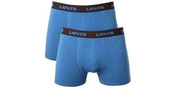 Set 2 pánskych modrých boxeriek Levi's