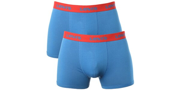 Set 2 pánskych modro-červených boxeriek Levi's