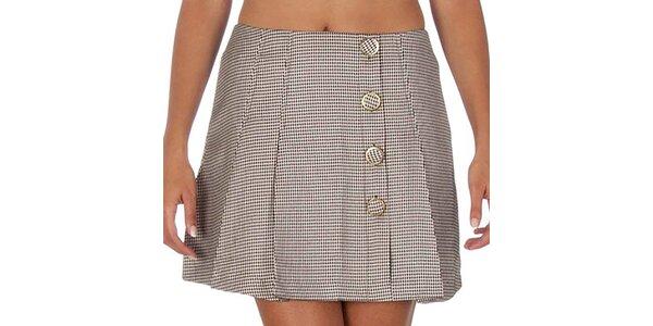 Dámska čierno-biela sukňa so vzorom kohútej stopy Vero Moda