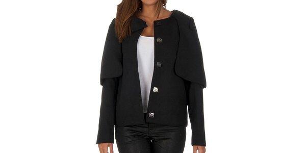 Dámsky čierny krátky kabátik Vero Moda