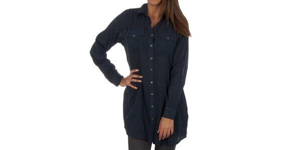 Dámska tmavo modrá dlhá košeľa Vero Moda