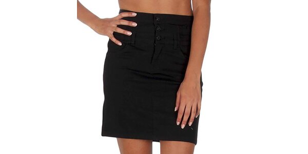 Dámska čierna sukňa s vreckami Vero Moda