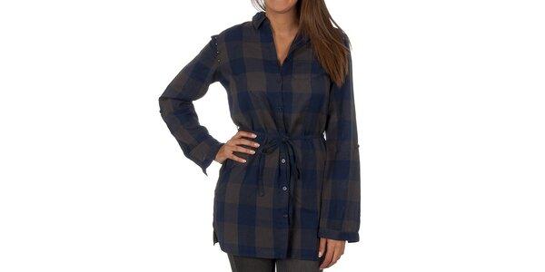 Dámska modro-šedo kockovaná košeľa Vero Moda