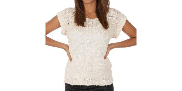 Dámsky biely svetrík s krátkymi rukávmi Vero Moda