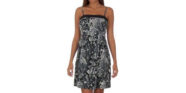 Dámske čierno-biele šaty s tenkými ramienkami Vero Moda