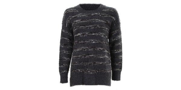 Dámsky šedo-čierny sveter Sugar Crisp