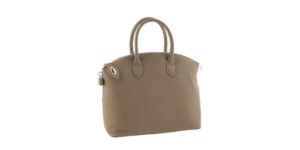 Dámska kabelka so zipsom v pieskovom odtieni Valentina Italy