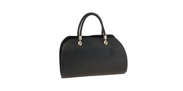 60e6faa69d Dámska čierna kabelka s kovovými prvkami Valentina Italy