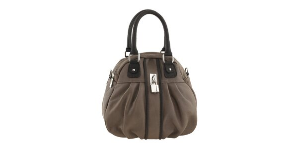 Dámska kožená kabelka s tmavšími prvkami Valentina Italy