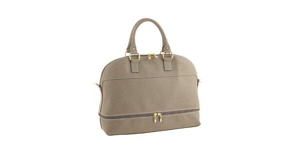 Dámska piesková kabelka so zlatými zipsami Valentina Italy